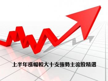 上半年漲幅較大十支強勢主流股精選