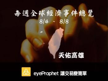 全球經濟事件總覽 (8/4~8/6)