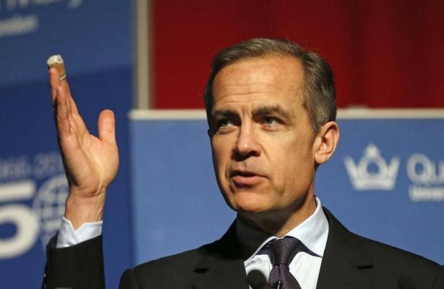 资料图片:英国央行总裁卡尼。REUTERS/Frank Augstein